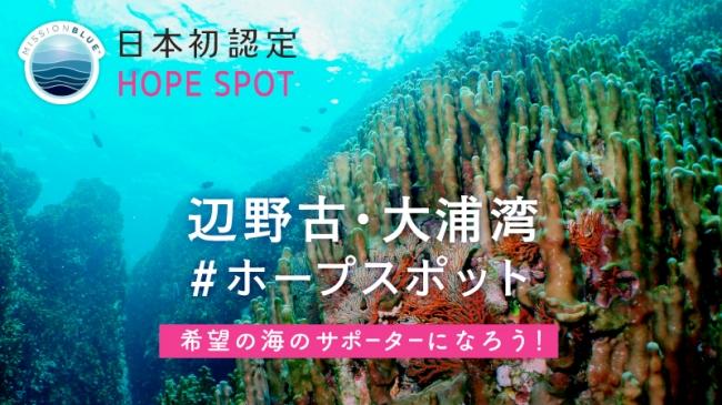 辺野古・大浦湾一帯が「日本初」のホープスポット(Hope Spot)に認定!