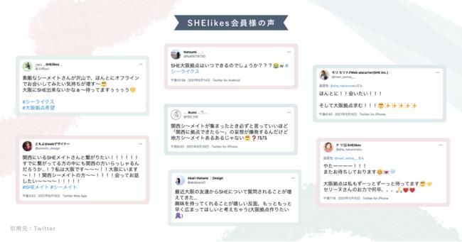 SHElikesの会員の声