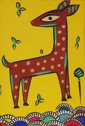 ジャミニ・ロイ 子鹿 1887-1972年 インド