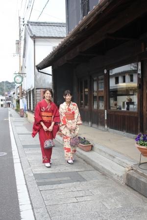 佐賀県有田町で『きものでまち歩き』