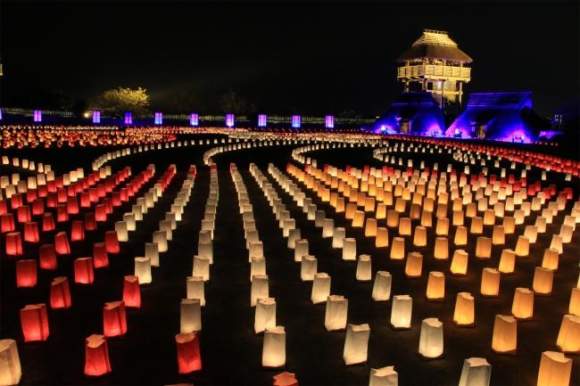 ライトアップイベント『吉野ヶ里 光の響』