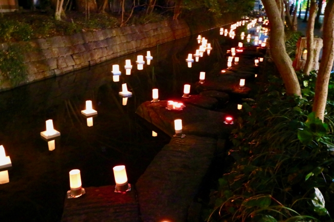松原川ライトアップひな祭り