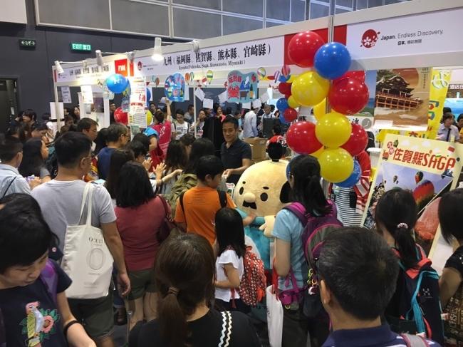 香港の旅行博でも大人気