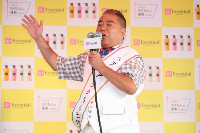 力強く応援演説中の出川哲朗さん