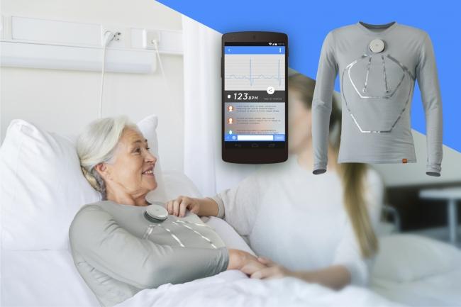 生体情報のセンシングによる 介護現場での応用イメージ