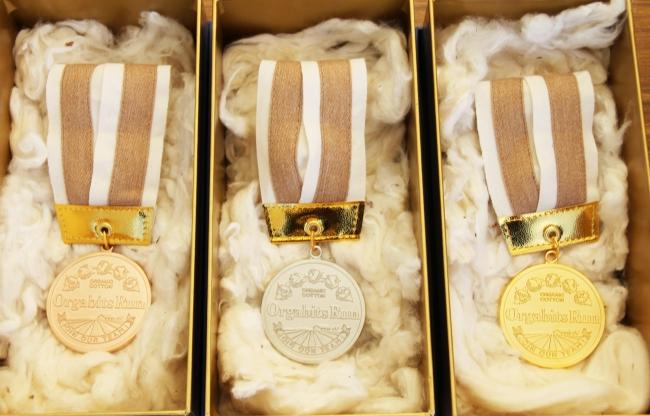 リサイクル貴金属のメダル
