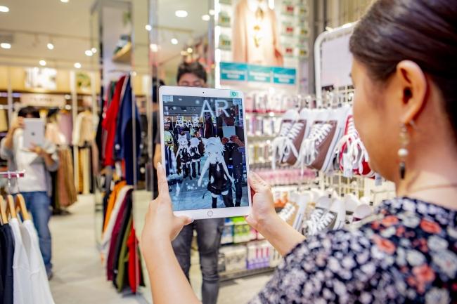 実店舗でARを用いたアバター視認のイメージ