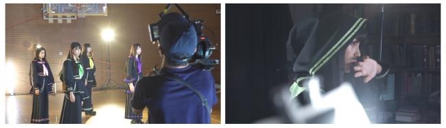 ドキュメンタリー映像 より、  ダンスとリップシンクシーンの撮影風景