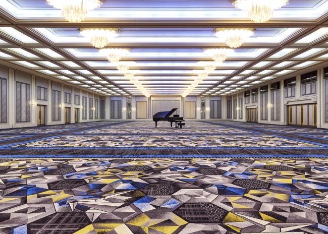 福岡市中心部最大級の規模を誇る大宴会場「鶴の間」