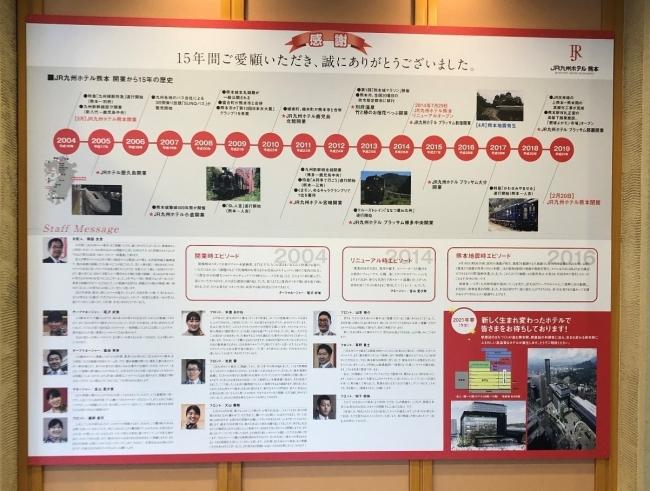 JR九州ホテル熊本 年表ボード