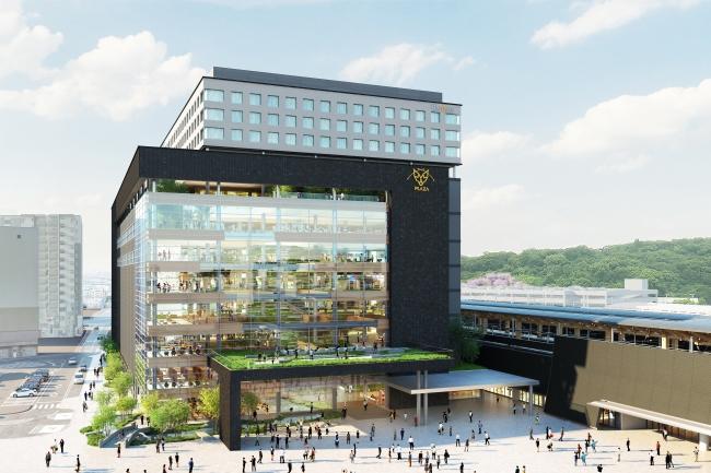 熊本駅ビル外観イメージ ※ 今後の設計及び関係機関等との協議より、変更する場合もございます。