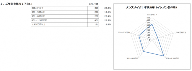 年収分布-2019メンズメイク体験利用者アンケート