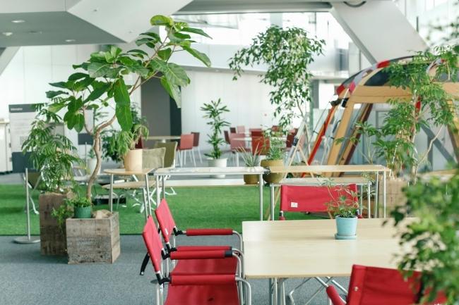 オフィスのグリーン化とフレキシブルなレイアウトを可能に