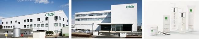 (左)生産センター(1968年~)(中央)研究開発センター(2014年~)(右)メイドイン栃木のスキンケアシリーズ