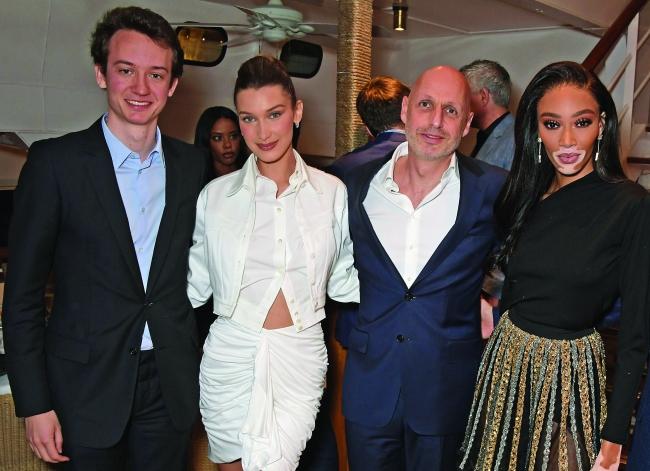左起:Frederick Arnaud,Bella Hadid,Stefan Bianchi,Winnie Harlow?2019 David M. Benett