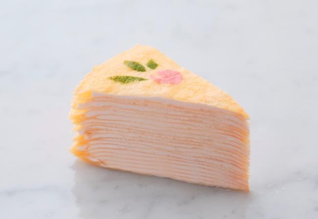 『季節のミルクレープ 桃』