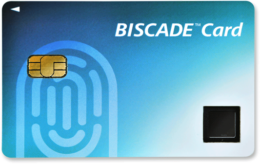 指紋認証ICカード「BISCADカード」M