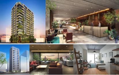 上:「HAMACHO HOTEL&APARTMENTS」イメージ、下:「WAVES日本橋浜町」イメージ