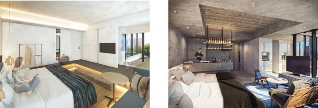 左:TERRACE ROOMイメージ、右:PREMIUM TERRACE ROOMイメージ