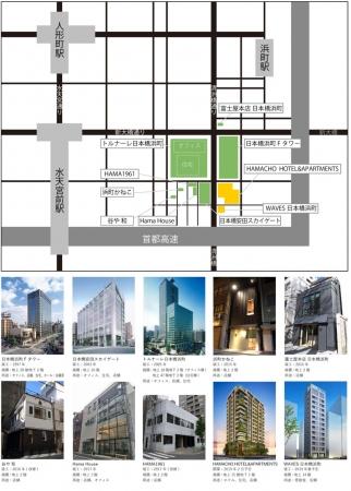 安田不動産 日本橋浜町再開発MAP
