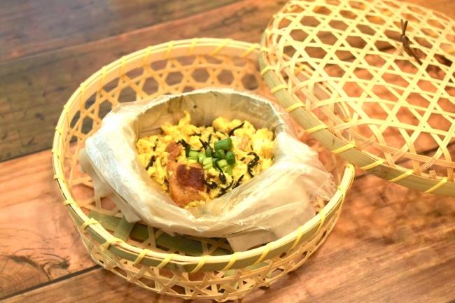 焼鳥缶で作る、鶏肉のホロホロ玉子豆腐
