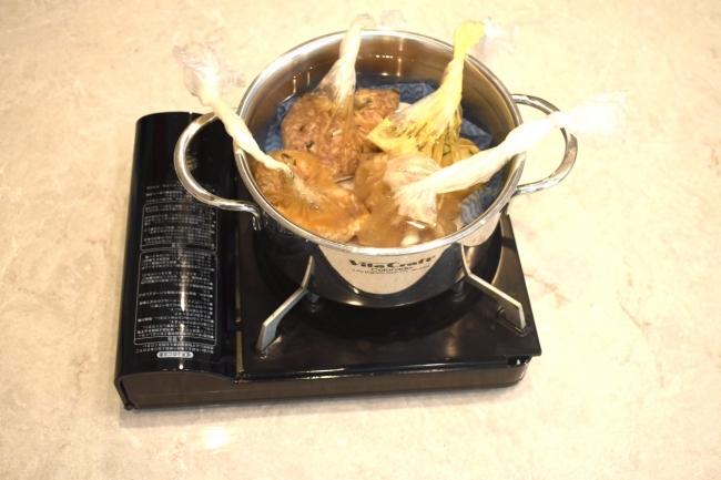 ポリ袋を使った災害食レシピ