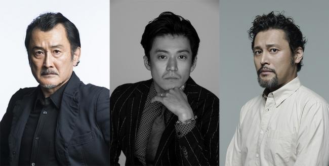 左より)吉田鋼太郎、小栗 旬、横田栄司 提供:ホリプロ
