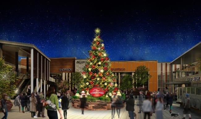 11月30日16時にイルミネーション点灯式を開催 南町田グランベリーパークで「まちづくりとしての空間デザイン」を提供 高さ8mのモミの木と高さ5mの「巨大リス」が登場!