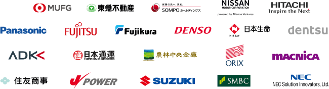logos of OEMS in Plug and Play Japan