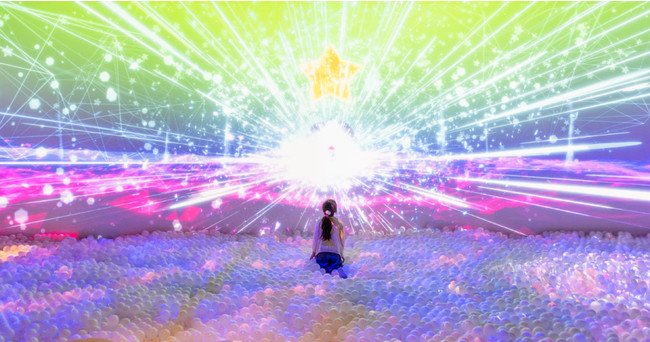 光と音のデジタルボールプール「ZABOOM」
