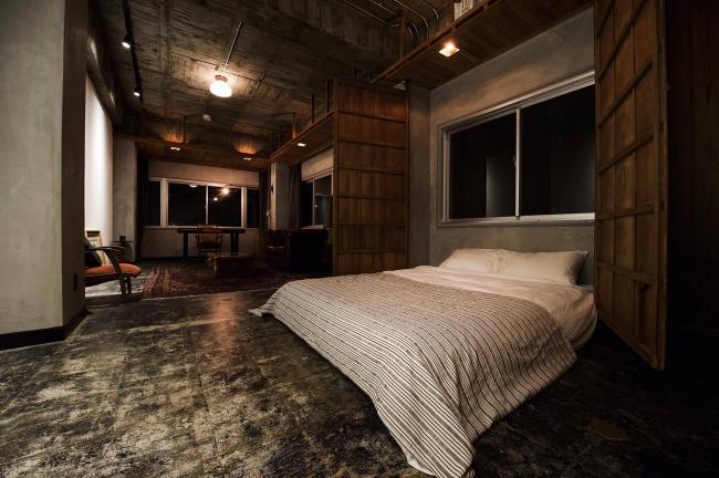 不要な時はベッドを収納し空間を広く利用することができます。