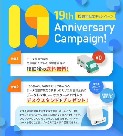 19周年記念キャンペーン