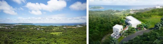 ルカナモトブからの眺望                  ルカナモトブ完成イメージ