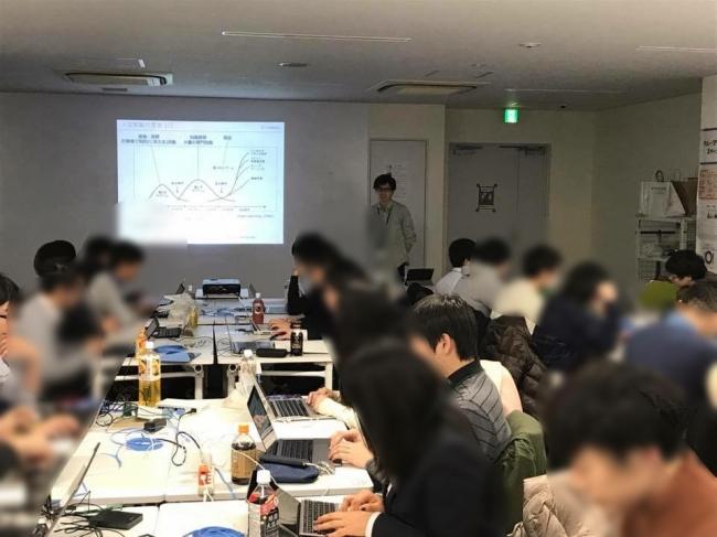 早稲田大学での授業の様子