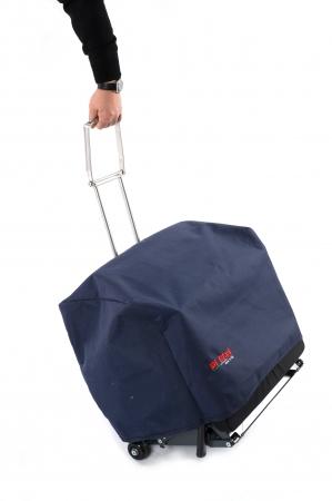 キャスター付きで、キャリーバッグのように簡単に移動できます。