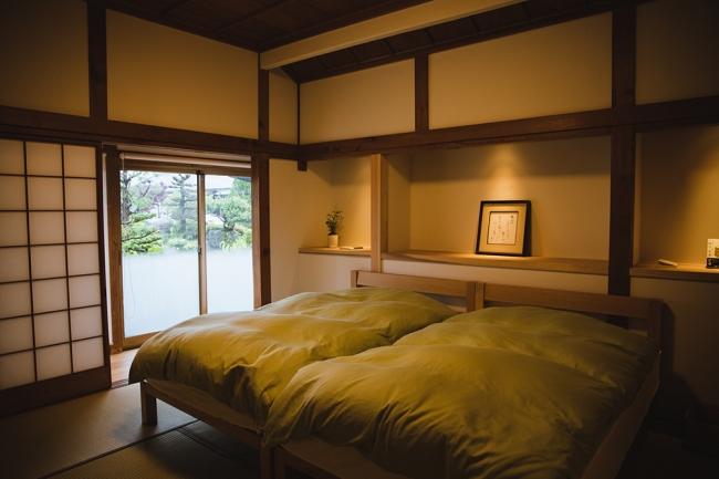 「茶心」は一棟貸切型。1人あるいは夫婦二人だけでといった贅沢な使い方ができます。(写真:Waki Hamatsu)
