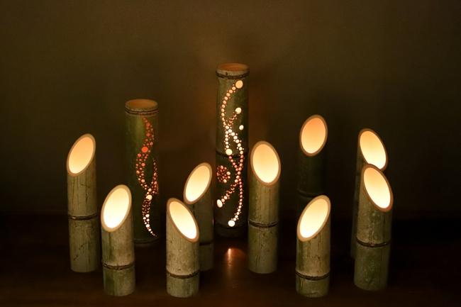 2019年9月21日の国際平和デーに開催する「竹あかりワークショップ」では、  間伐材を用いた竹で灯篭を作ります。