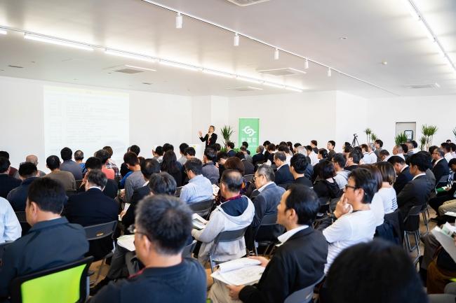 ソラシドエア高橋社長による基調講演(写真:Yuta Nakayama)