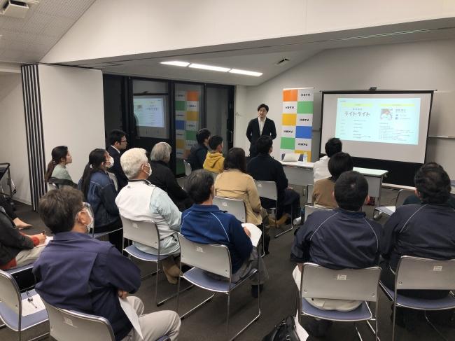 2020年2月に宮崎県新富町で開催した事業承継講座。ライトライト代表の齋藤隆太氏が講師として登壇したこの講座の反響が大きかったことから、こゆ財団では事業承継の促進に本格的に取り組みを始めました。