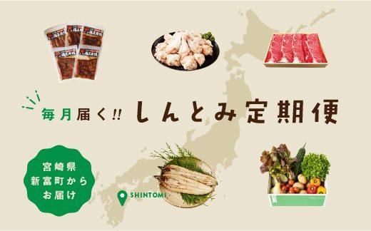 宮崎県新富町の位置と特産品を配した、地域おこし協力隊・増田悠太朗によるデザイン。