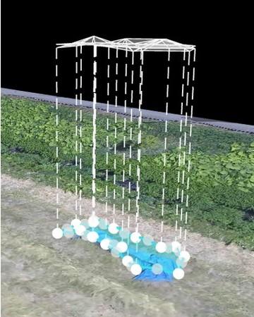 模擬的な氾濫現場を再現して検証