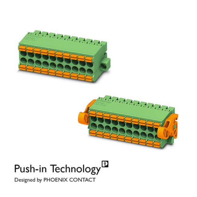FA機器向けPush-inベストセラー製品、プリント基板用端子台「DFMC 1,5シリーズ」