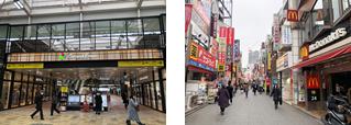 駅直結型の「グランエミオ所沢」/駅前には商店街も充実