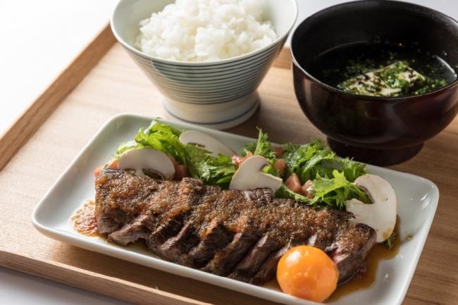 花園牛サーロインステーキ定食(1日限定20食)