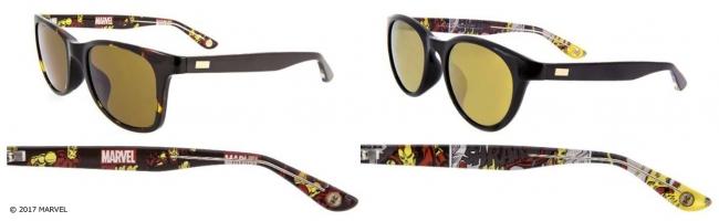 【アイアンマン」屈強なアーマーを装着した「アイアンマン」の勇姿がサングラスに。肌なじみの良いフレーム&レンズのカラーリングにも注目!