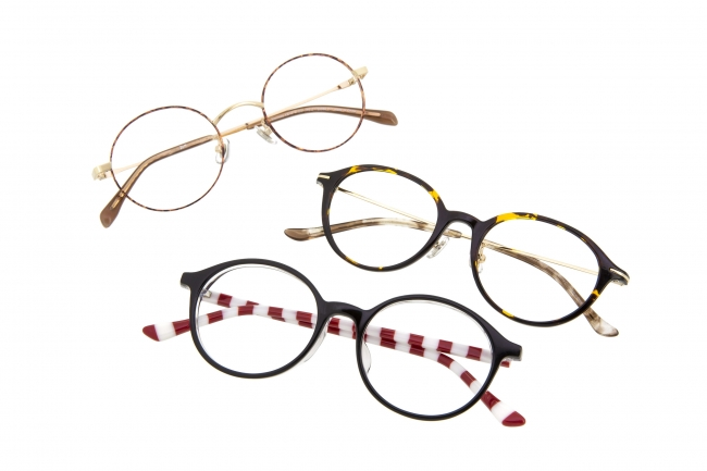 """Zoffには""""まるメガネ""""が100種類以上ズラリ"""