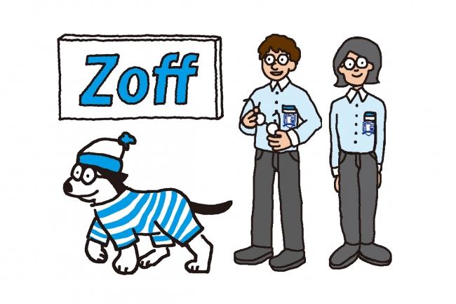 グッズのイラストにはZoffオリジナルのキャラクターが