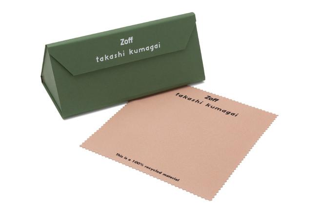 ◆付属品 60%再生材を使ったオリジナルケース 100%再生材を使った自然に配慮したメガネ拭き