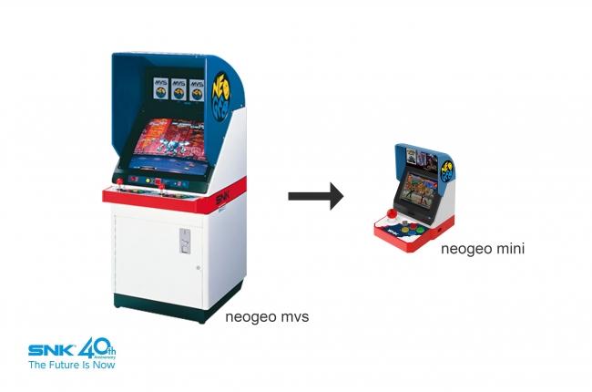 「NEOGEO」のアーケード筐体をモチーフにした日本版「NEOGEO mini」