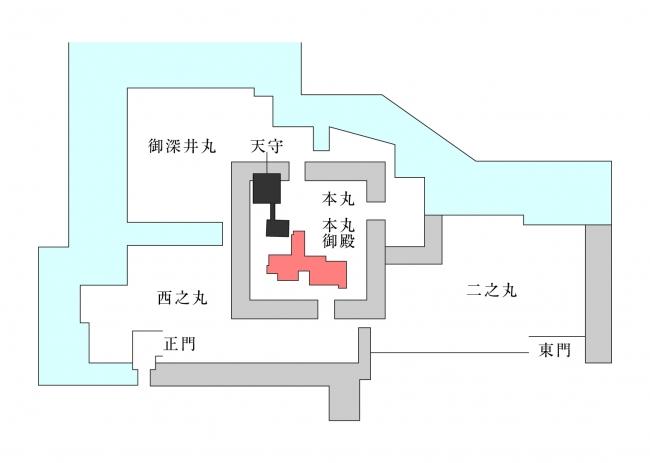 名古屋城 敷地図